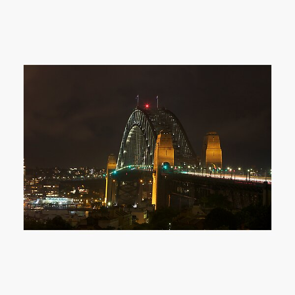 Underbelly of The Sydney Harbour Bridge Photographic Print