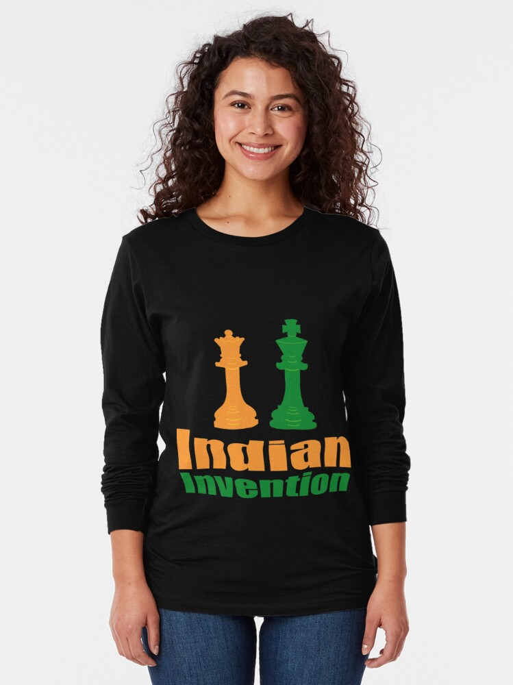 Alternate view of Indian invention - Chess Long Sleeve T-Shirt