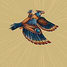 Thunderbird Iphone Case by Sarah  Mac Illustration