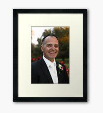 Happy Groom Framed Print