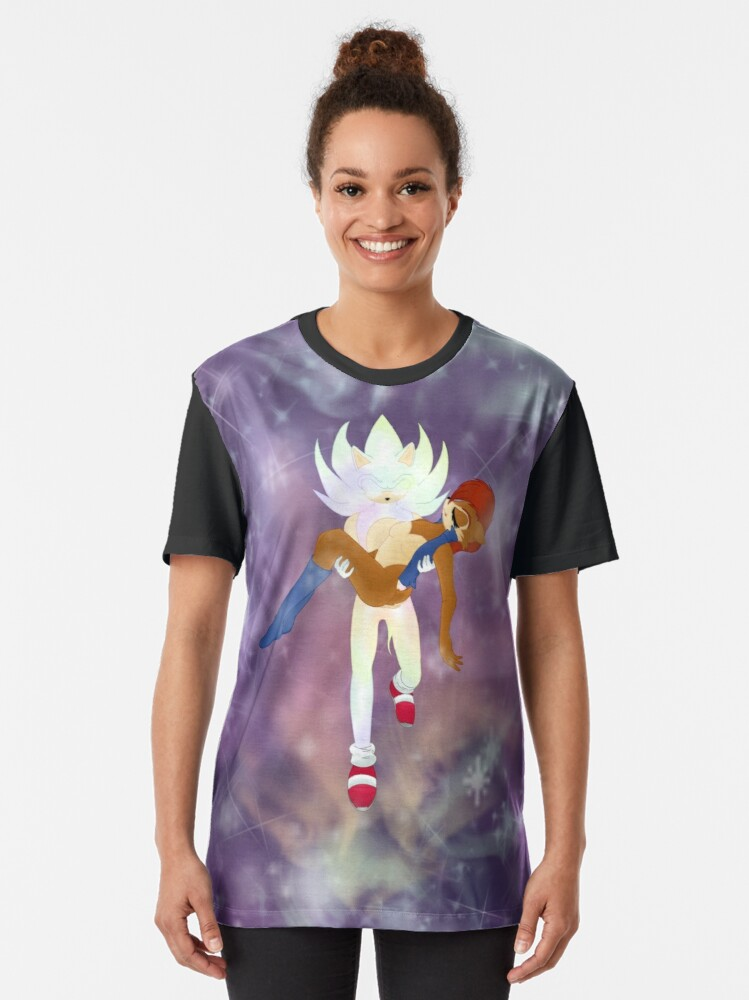 Alternate view of Hyper Sonic and Sally Graphic T-Shirt