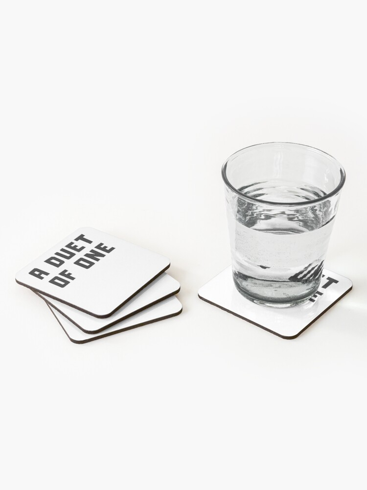 Alternate view of A DUET OF ONE Coasters (Set of 4)
