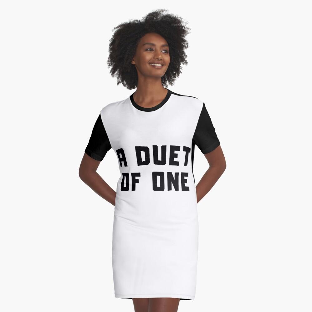A DUET OF ONE Graphic T-Shirt Dress