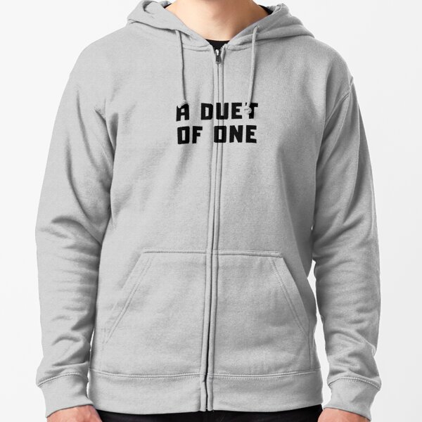 A DUET OF ONE Zipped Hoodie