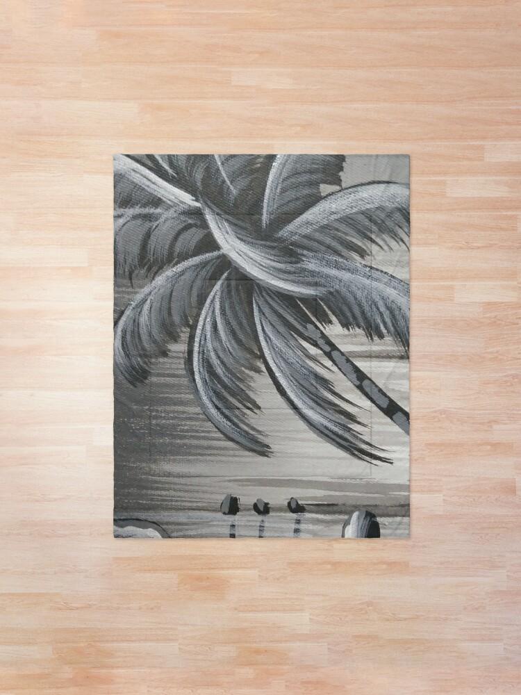 Alternate view of Palm tree #Palm #tree #PalmTree  Comforter