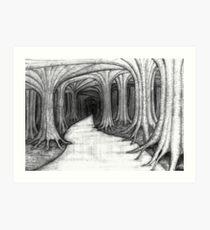 The Dark And Twisty Road Art Print