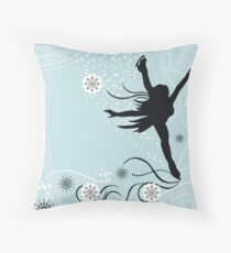 ice skater  Throw Pillow