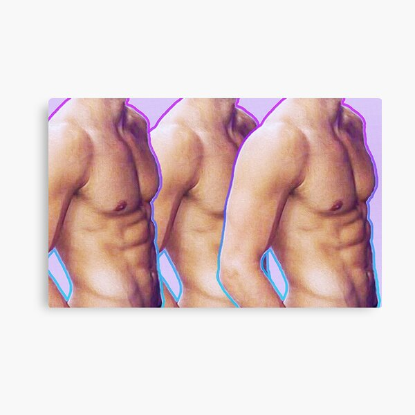 Headless Jeff Wittek Shirtless [Mixed Media] Canvas Print
