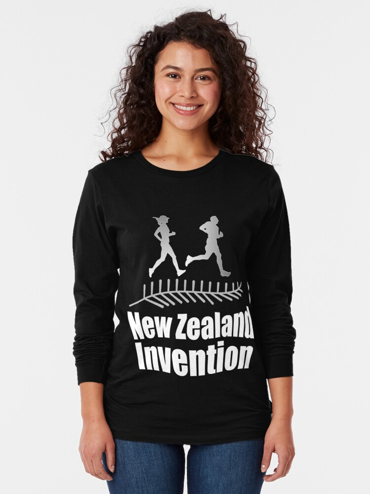 Alternate view of New Zealand Invention - Jogging Long Sleeve T-Shirt
