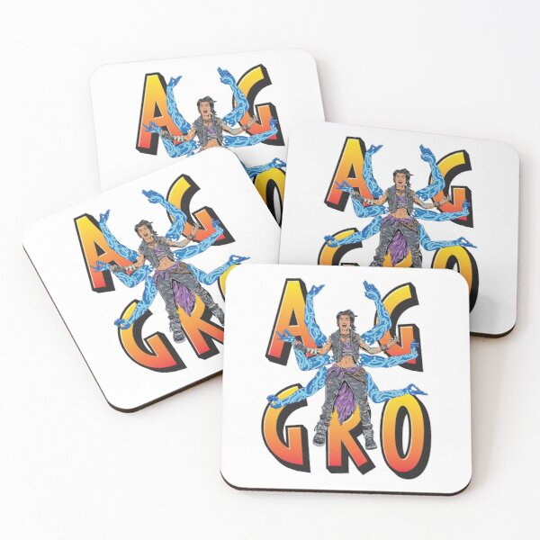 Amara The Siren Aggro Borderlands 3 The Tiger of Partali Aggressive Provoking  Coasters (Set of 4)
