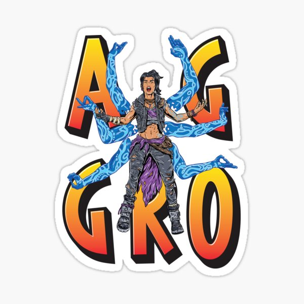 Amara The Siren Aggro Borderlands 3 The Tiger of Partali Aggressive Provoking  Sticker