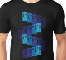 Shades of the Blue Box Tardis Unisex T-Shirt