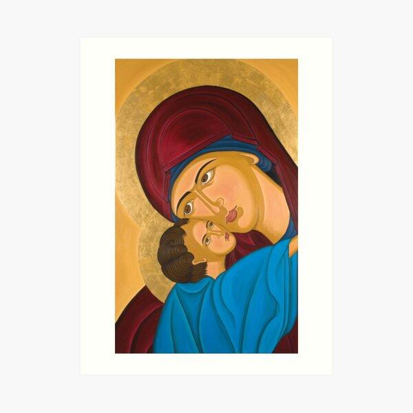 Mother-Love Byzantine Art Art Print