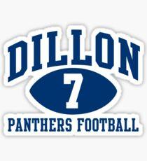 Dillon Panthers Football #7 Sticker