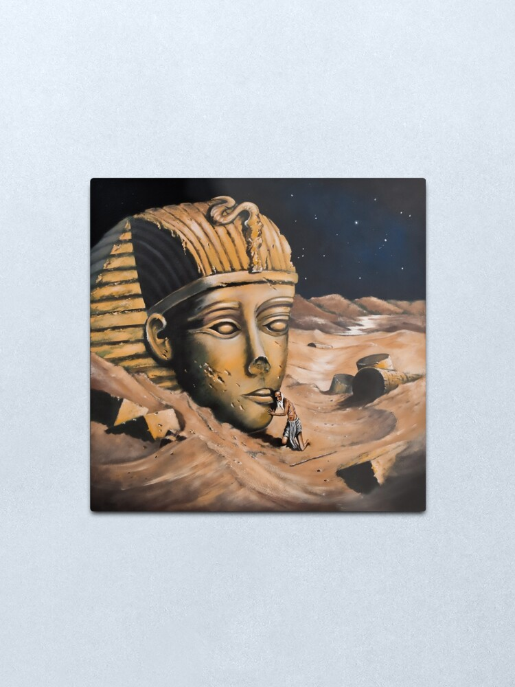 Alternate view of QUESTIONING THE SPHINX Metal Print