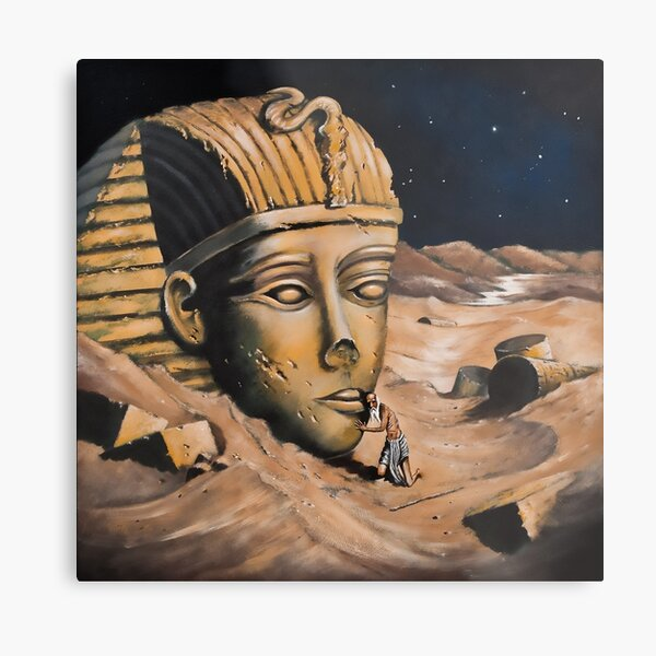 QUESTIONING THE SPHINX Metal Print