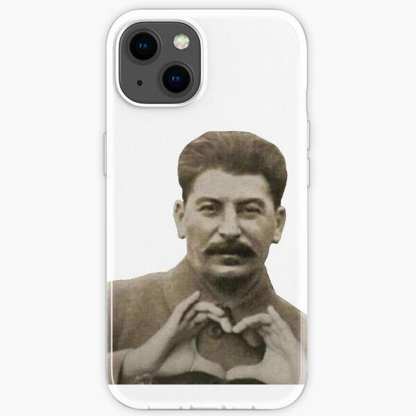 Coeur avec les doigts de Staline Coque souple iPhone