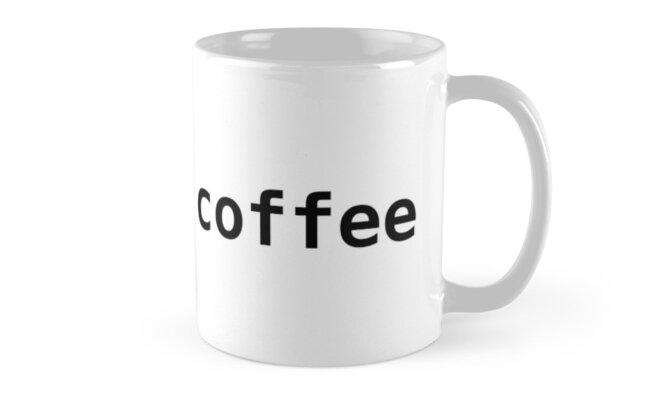 import coffee - Funny Python Programmer Mug by ramiro