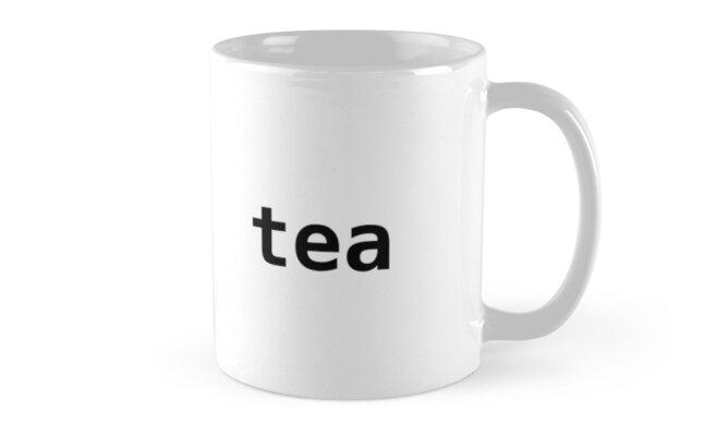 import tea - Funny Python Programmer Mug by ramiro