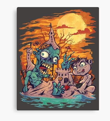 Zombie At The Beach  Canvas Print