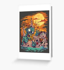 Zombie At The Beach  Greeting Card