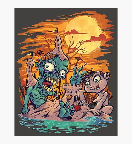 Zombie At The Beach  Photographic Print