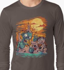 Zombie At The Beach  Long Sleeve T-Shirt