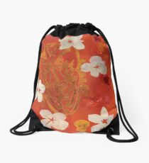 Tiki Devil Drawstring Bag