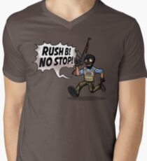 Rush B! No Stop! Men's V-Neck T-Shirt