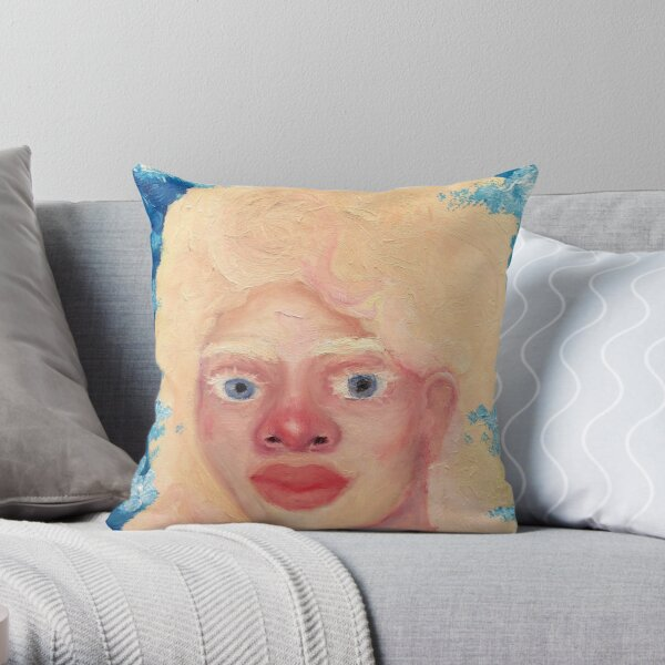 A portrait of the Nymph Nephele Throw Pillow