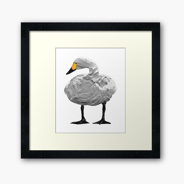 Swan - Laudea Martin Framed Art Print