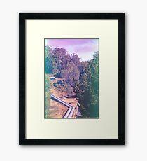 Tarreleah Pipeline, Expired Film. Framed Print