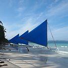 Boracay Boats by kvbubble