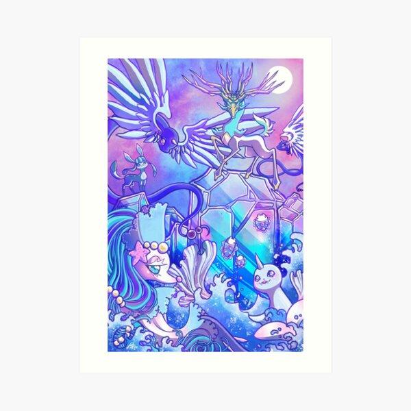 Aurora Veil Art Print
