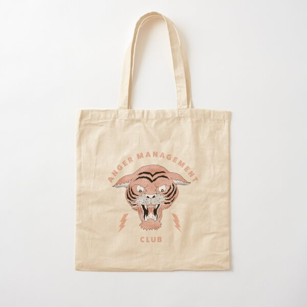 Anger Management Club Tiger Cotton Tote Bag