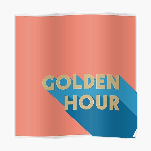 Minimalist Golden Hour Album Cover Poster