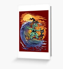 Witch At the Beach Greeting Card