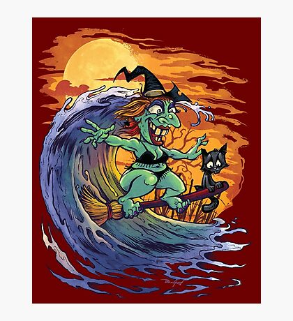 Witch At the Beach Photographic Print