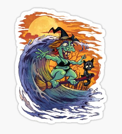 Witch At the Beach Sticker