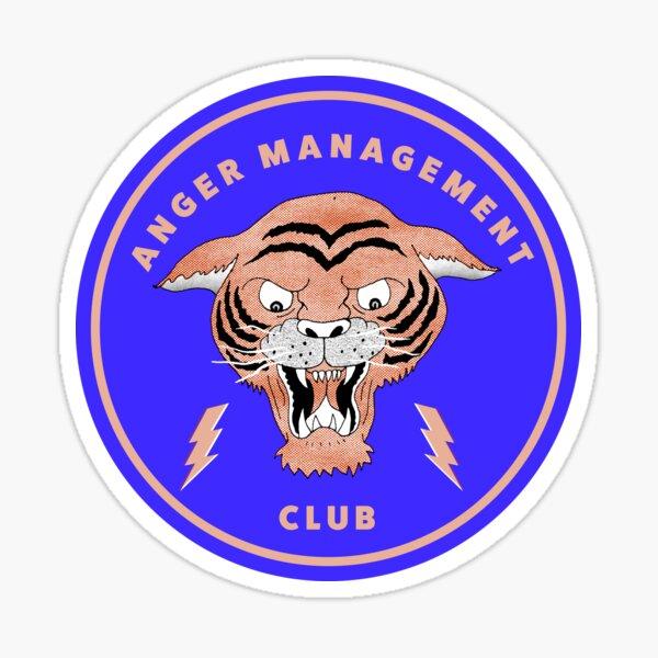 Anger Management Club Tiger Sticker