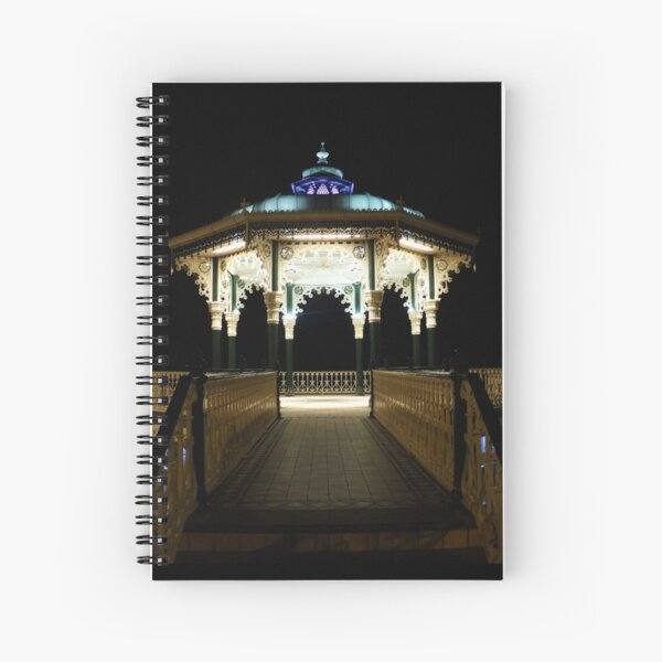 Brighton Bandstand at Night Spiral Notebook