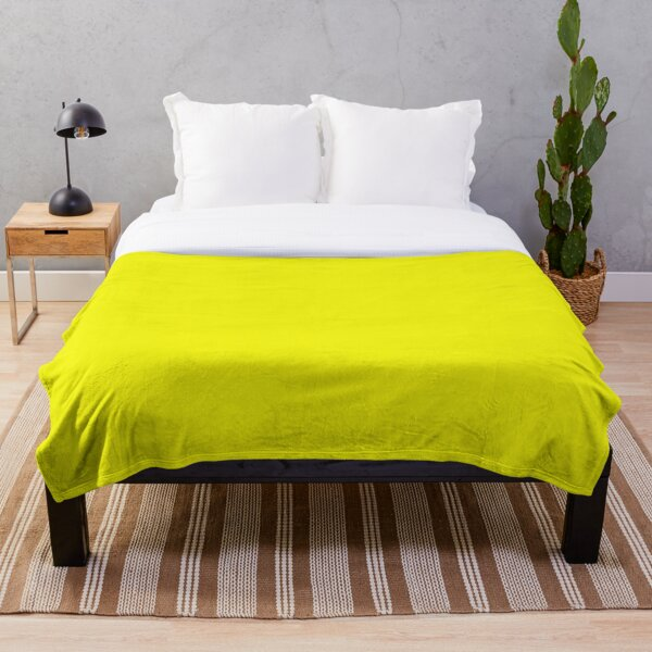 Just Yellow Throw Blanket - Pure Yellow Bedspread Throw Blanket