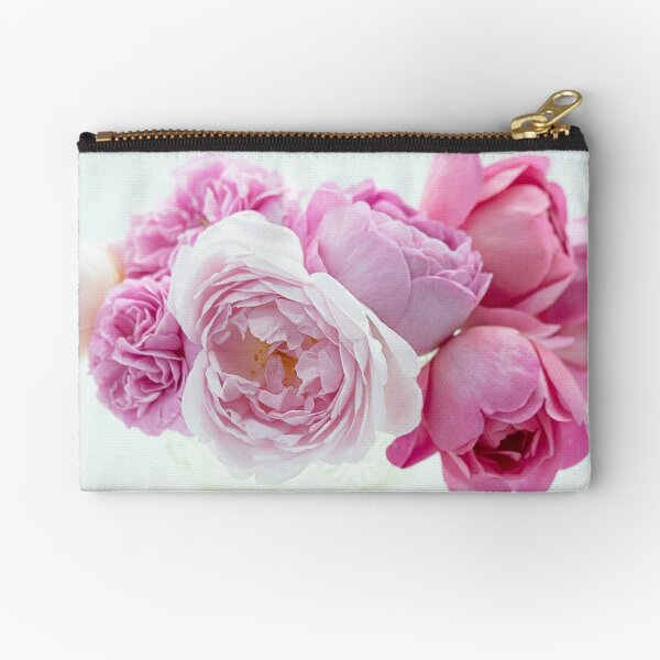 A Bouquet Of English Roses From My Rose Garden #1 Zipper Pouch