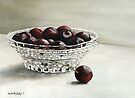 Bowl Full of Cherries by Charlotte Yealey