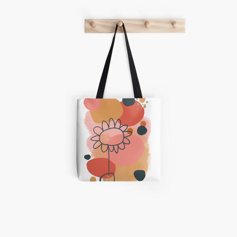 Abstract Flower Power digital Art Design Tote Bag