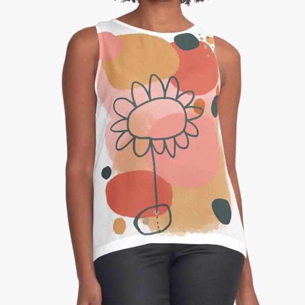 Abstract Flower Power digital Art Design Sleeveless Top