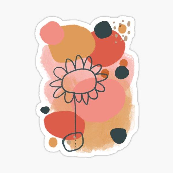 Abstract Flower Power digital Art Design Sticker