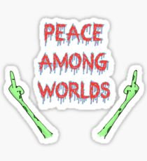 Peace Among Worlds, Rick and Morty inspired Sticker