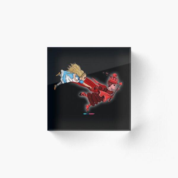 Reina Roja by Fran Ferriz Bloque acrílico