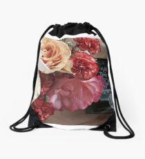 Flower Book Drawstring Bag
